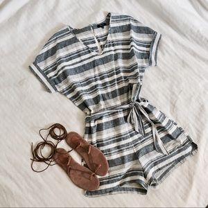 Madewell striped linen romper
